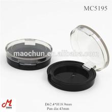 Plastic empty round clear lid one layer blush powder box