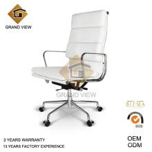 Silla Eames jefe giratoria de cuero blanco (GV-EA219)