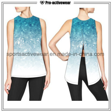 Camisetas de la mujer del chaleco del gimnasio de la camisa de la yoga del servicio del OEM