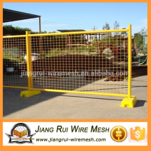 Removeable galvanized temporary fence