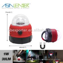 BT-4922 com gancho magnético 1W LED lanterna camping pequeno