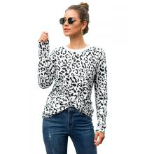 Hot Sale Leopard Print Women's Long-sleeved T-shirt