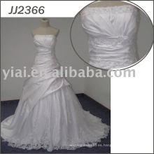 JJ2366 vestido de bola de satén de Bling Sexy noche de bodas se viste