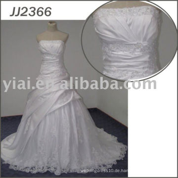 JJ2366 Ballkleid Bling Satin Sexy Hochzeit Nacht Kleider