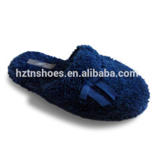 Ladies soft plush winter slipper bowtie slipper shoe home slipper