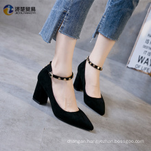 Riveted high heels shoes 2017 arrivals women sexy shoes