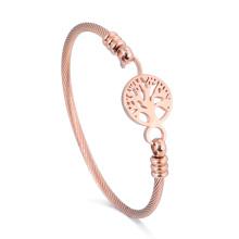 14 K oro por encargo árbol de la pulsera de la vida joyería de brazalete de desgaste diario