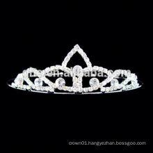 New fashion wholesale rhinestone half circle hair tiara