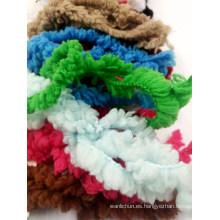 Mitad de terciopelo de plumas de microfibra elegante tejido a ganchillo tejer hilo