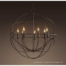 Iluminación colgante europea del hierro de la bola (MD2005-7LRR)