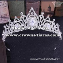 Wedding Princess Crowns With Round Diamond