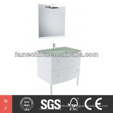 Glass Basin Modern Bathroom Cabinet Gloss Painting