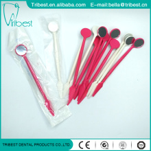 Disposable Colorful Dental Mirror With Spatula