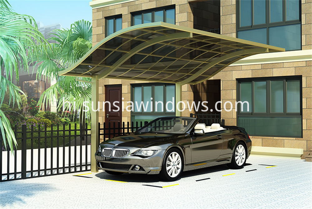 European Style Aluminum Single Carport 1