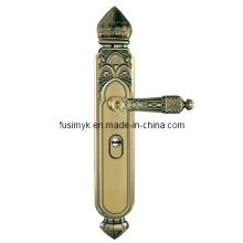 Nuevas manijas de puerta de bronce del verde del diseño (FA-6011TL)