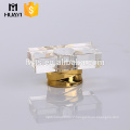 square shape perfume bottle use clear cap perfume surlyn