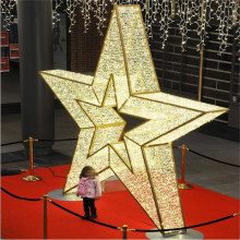 Waterproof Christmas Ornaments LED 3D Star Motif