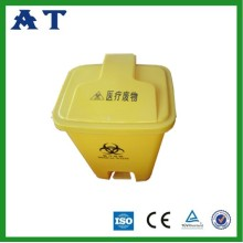 colorful plastic medical waste bin