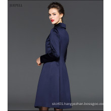 100% Polyester Lady Jacket in Color of Bright Blue