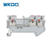 Bloque de terminales eléctrico de carril DIN