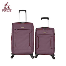Softside Fabric Zipper Travel Luggage Trolley Bags