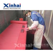 Grupo de produtos de borracha industrial da elasticidade da resistência de abrasão de Xinhai