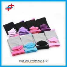 Ladies' classic cotton sock solid colored knitting quick dry elastic sock