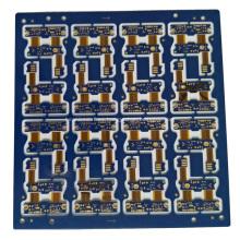 Máscara de soldadura azul 4 capas de placa de circuito flexible rígida