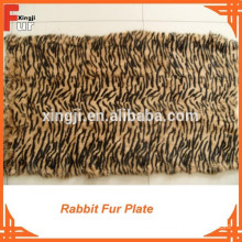 Tiger Strip Printed & dyed rabbit fur plate