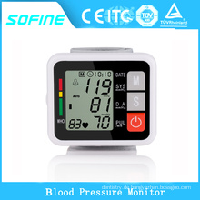 Gesundheitswesen Automatische Digital Handgelenk Blutdruckmessgerät Messing Manschette Blutdruckmessung Gesundheitsmonitor