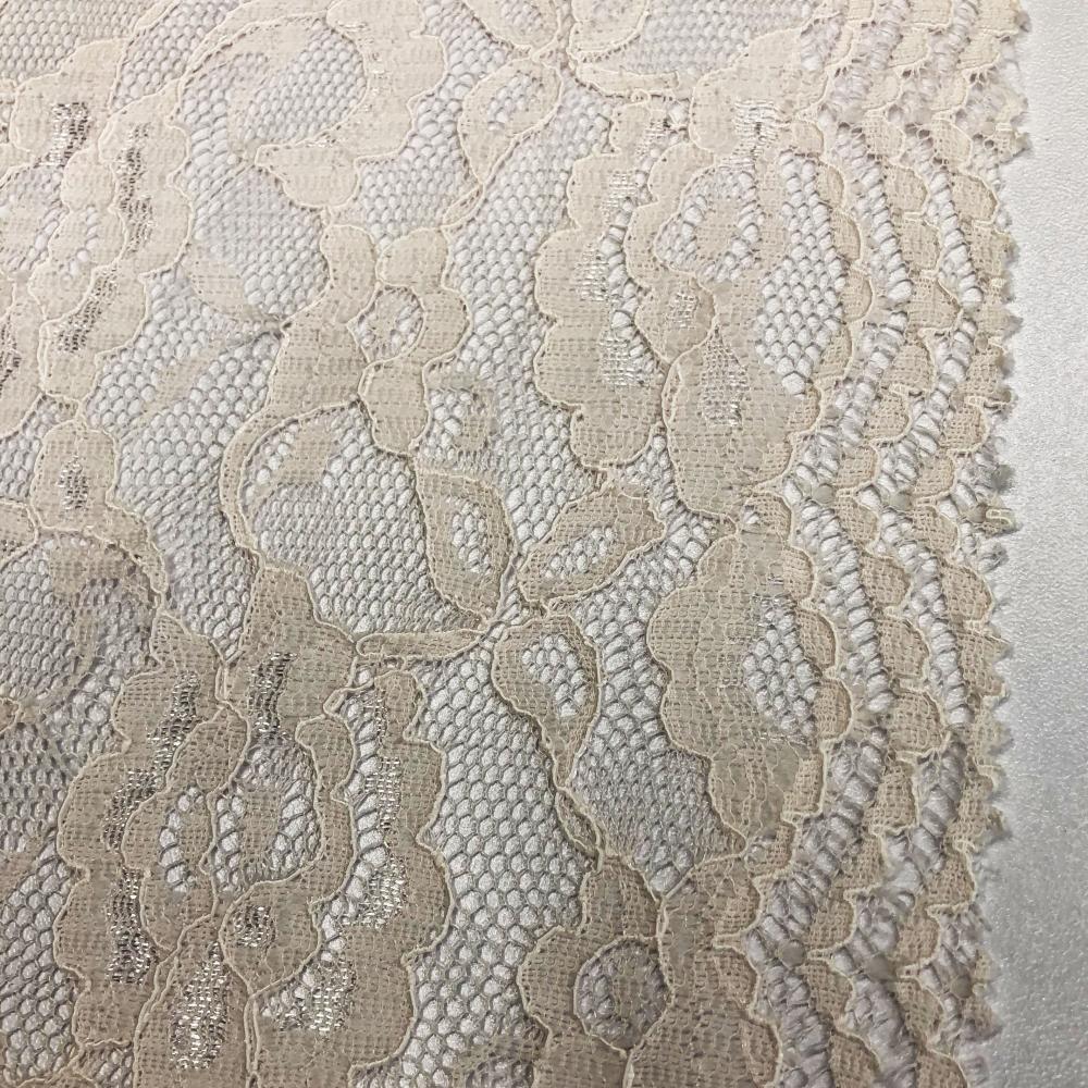 Pierced Flower Partten Lace Fabric