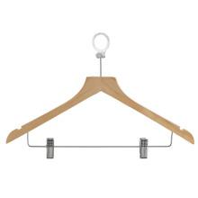 Wooden Hotel Coat Pants Solid Wood clip hanger