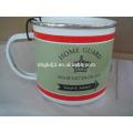 Wholesale custom logo printing enamel steel cup,custom enamel mug wholesale