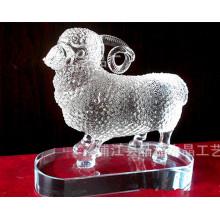 Animal coloré de métier en cristal, presse-papiers animal en verre pour le cadeau