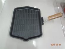 Preseasoned besi Tuang BBQ Grill Pan