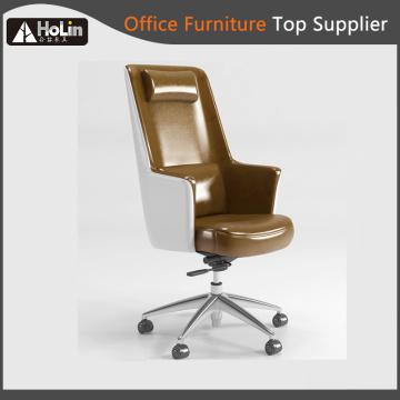 Cadeira giratória de couro do sofá do escritório doméstico