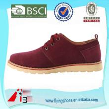 Подгонять стильные замшевые кожаные ботинки для мужчин
