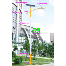 WPSRR-8401 3~15m Municipal Road Hot DIP Galvanized Steet Light Pole style