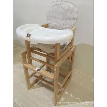 Silla de comedor de madera de madera de la silla de la alta