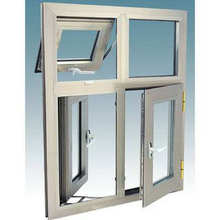 Ventana de aluminio térmico doble de la rotura del vidrio templado de Foshan Woodwin