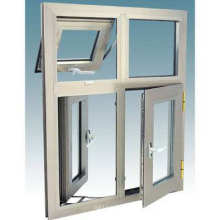 Foshan Woodwin Double vitre trempé Verre thermique Fenêtre en aluminium