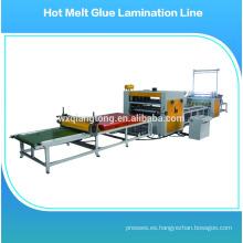 Laminate máquina de rodillos / máquina de pegamento de papel / hot melt pegamento máquina