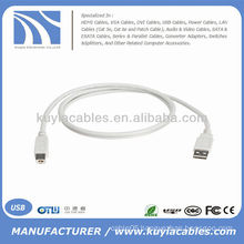 White Short Laptop PC MAC USB 2.0 A Male to B Male Printer Device Scanner Hub Cable 30cm