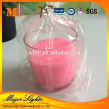 Conception élégante de nouvelles bougies chauffe-plat originales personnalisées dans la tasse en plastique