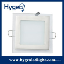 Painel painel de luz led 6W quadrado levou painel de vidro fino