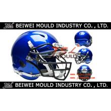 Molde plástico personalizado injeção do capacete de futebol