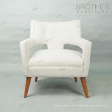 Rembourrage moderne français Dernière conception tissu loisirs canapé chaise