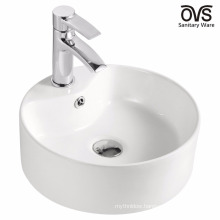 sanitary fancy art elegant ceramic top counter ceramic basin