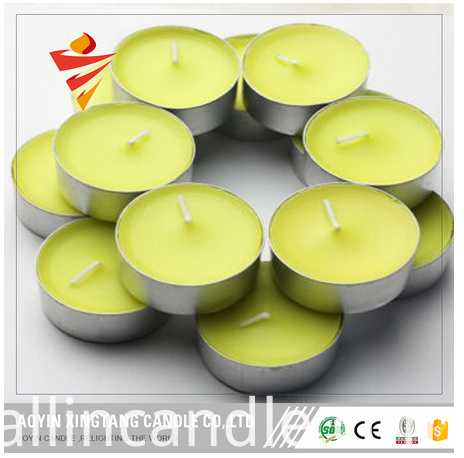 yellow tealight candle
