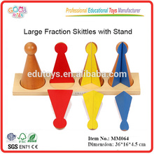 Pädagogische Montessori Material Spielzeug Große Bruch Skittles mit Stand